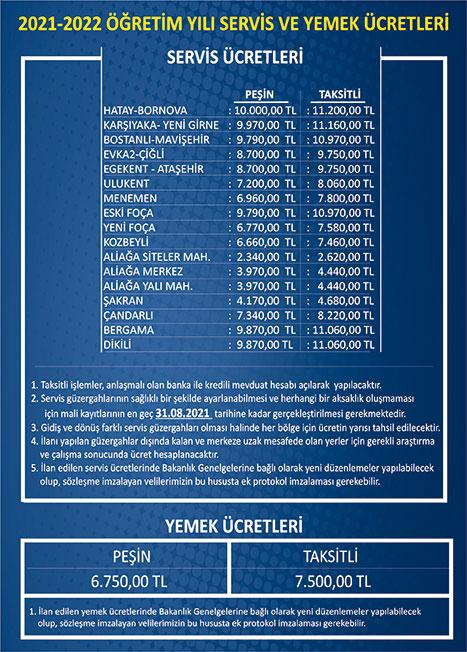 2021-2022-Servis-Ücreti
